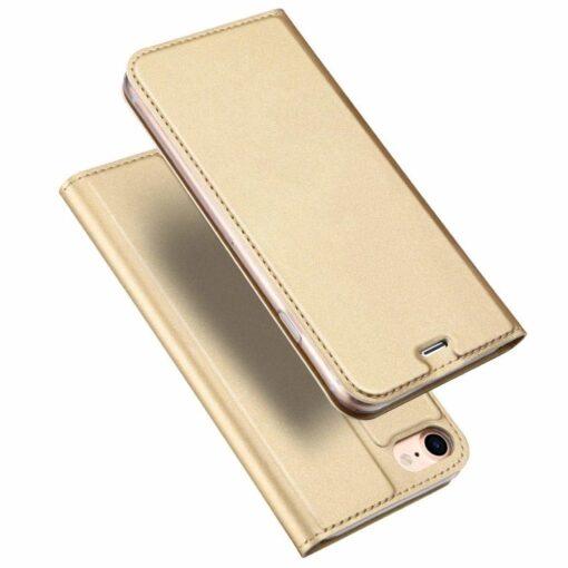 iPhone SE 2020 7 ja 8 kaaned DUX DUCIS Skin Pro Bookcase kuldne