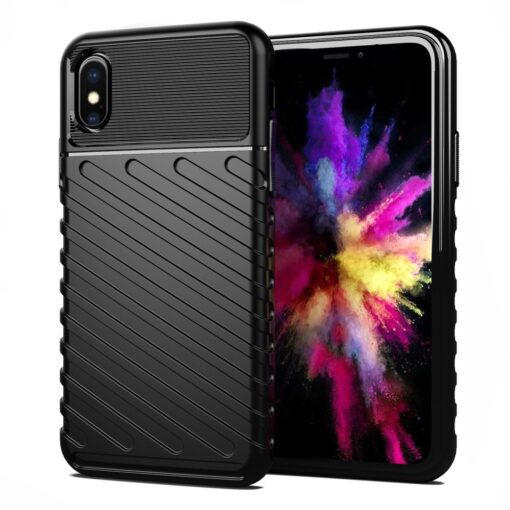 iPhone XS ümbris tugev silikoonist must 2