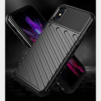 iPhone XS ümbris tugev silikoonist must 3