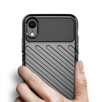 iPhone Xr tugev must silikoonist ümbris 1