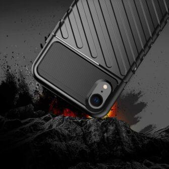 iPhone Xr tugev must silikoonist ümbris 2