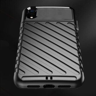 iPhone Xr tugev must silikoonist ümbris 3