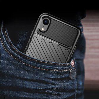 iPhone Xr tugev must silikoonist ümbris 5