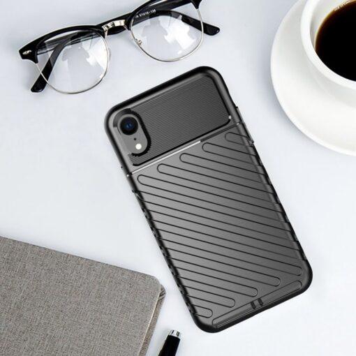 iPhone Xr tugev must silikoonist ümbris 6