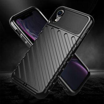 iPhone Xr tugev must silikoonist ümbris 8