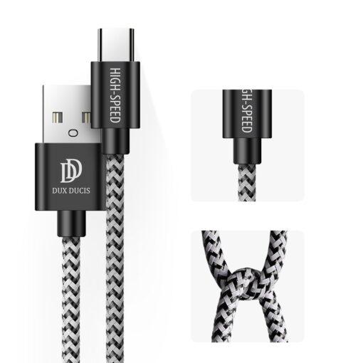 3x USB Android laadija juhe Type C USB C Dux Ducis 0.25m 1m 2m 2A 1