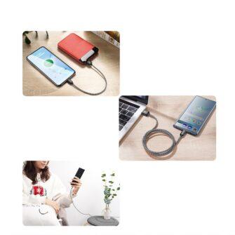 3x USB Android laadija juhe Type C USB C Dux Ducis 0.25m 1m 2m 2A 10