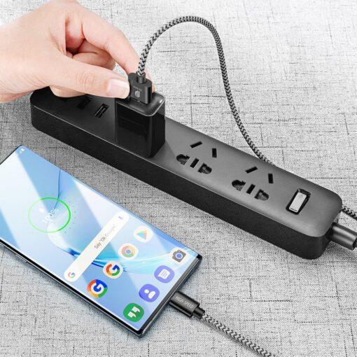 3x USB Android laadija juhe Type C USB C Dux Ducis 0.25m 1m 2m 2A 3