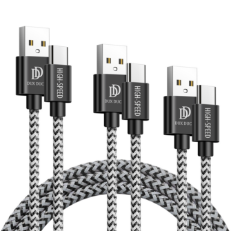 3x USB Android laadija juhe Type C USB C Dux Ducis 0.25m 1m 2m 2A