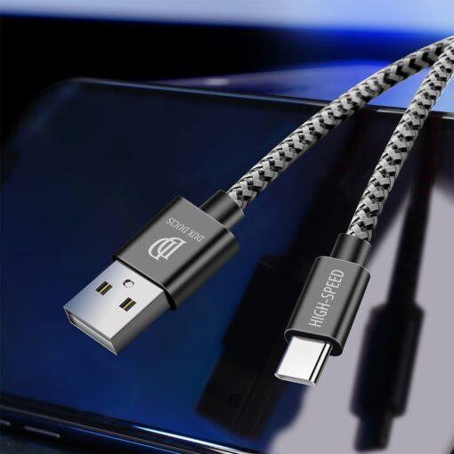 3x USB Android laadija juhe Type C USB C Dux Ducis 0.25m 1m 2m 2A 7