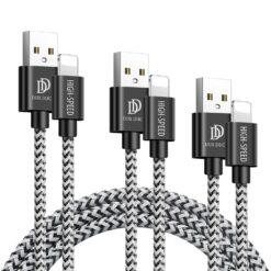 3x USB iPhone laadija juhe lightning Dux Ducis 0.25m 1m 2m 2A