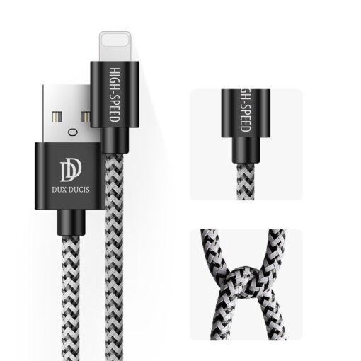 3x USB iPhone laadija juhe lightning Dux Ducis 0.25m 1m 2m 2A 8