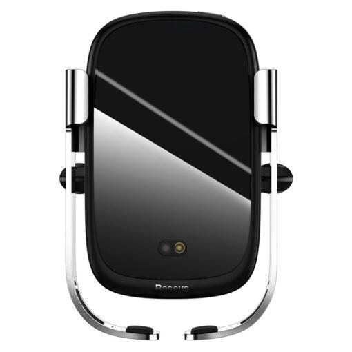Baseus Rock Smart autohoidik koos juhtmevaba Qi laadijaga ja infrapuna sensoriga hõbe WXHW01 0S 1