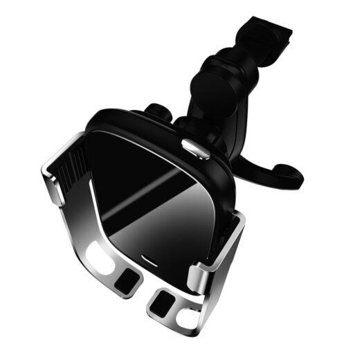 Baseus Rock Smart autohoidik koos juhtmevaba Qi laadijaga ja infrapuna sensoriga hõbe WXHW01 0S 2