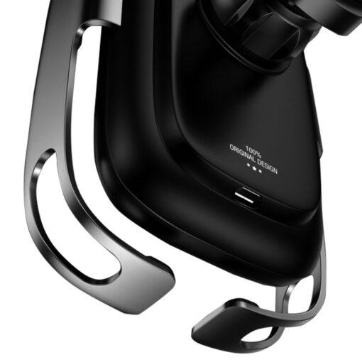 Baseus Rock Smart autohoidik koos juhtmevaba Qi laadijaga ja infrapuna sensoriga hõbe WXHW01 0S 4
