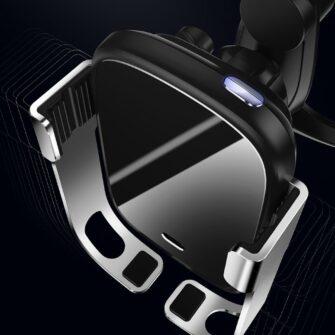Baseus Rock Smart autohoidik koos juhtmevaba Qi laadijaga ja infrapuna sensoriga hõbe WXHW01 0S 8