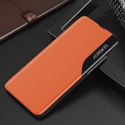 Huawei P30 Pro kaaned kunstnahast oranž 1