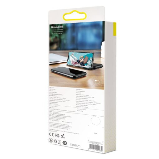 Juhtmevaba laadijaga akupank Baseus S10 Bracket 10000mAh 18W with Wireless Charger Qi 10W black PPS10 01 16