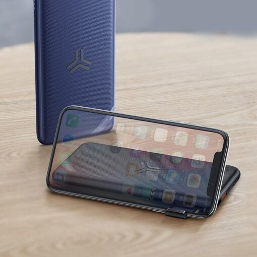 Juhtmevaba laadijaga akupank Baseus S10 Bracket 10000mAh 18W with Wireless Charger Qi 10W black PPS10 01 7