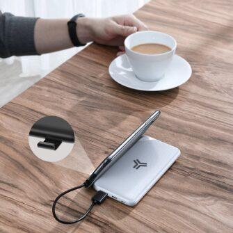 Juhtmevaba laadijaga akupank Baseus S10 Bracket 10000mAh 18W with Wireless Charger Qi 10W black PPS10 01 8