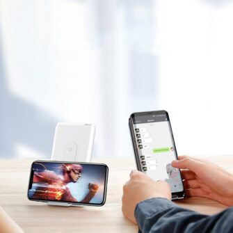Juhtmevaba laadijaga akupank Baseus Wireless Charger Qi 10 000 mAh 15W USB Type C PD Quick Charge 3.0 QC WXHSD D01 11