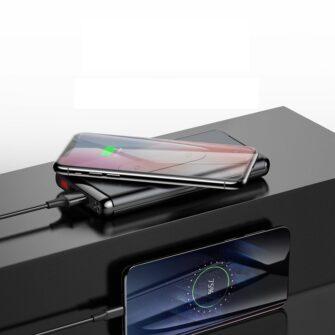 Juhtmevaba laadijaga akupank Baseus Wireless Charger Qi 10 000 mAh 15W USB Type C PD Quick Charge 3.0 QC WXHSD D01 12