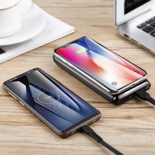 Juhtmevaba laadijaga akupank Baseus Wireless Charger Qi 10 000 mAh 15W USB Type C PD Quick Charge 3.0 QC WXHSD D01 18
