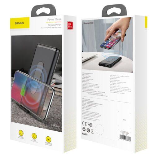 Juhtmevaba laadijaga akupank Baseus Wireless Charger Qi 10 000 mAh 15W USB Type C PD Quick Charge 3.0 QC WXHSD D01 19