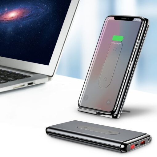 Juhtmevaba laadijaga akupank Baseus Wireless Charger Qi 10 000 mAh 15W USB Type C PD Quick Charge 3.0 QC WXHSD D01 9