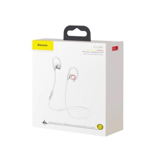 Juhtmevabad kõrvaklapid Baseus Encok Sports S17 IPX5 Bluetooth 5.0 valge NGS17 02 16