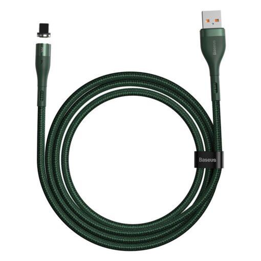 Magnetiga laadija juhe Baseus Zinc USB Lightning 1 m 2.4A roheline CALXC K06 10