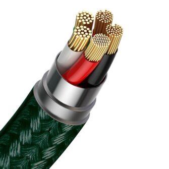 Magnetiga laadija juhe Baseus Zinc USB Lightning 1 m 2.4A roheline CALXC K06 3