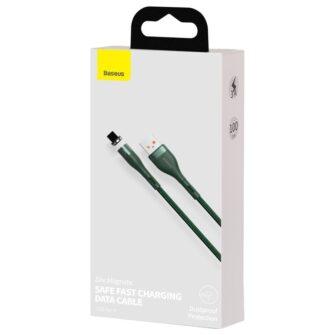Magnetiga laadija juhe Baseus Zinc USB Lightning 1 m 2.4A roheline CALXC K06 4