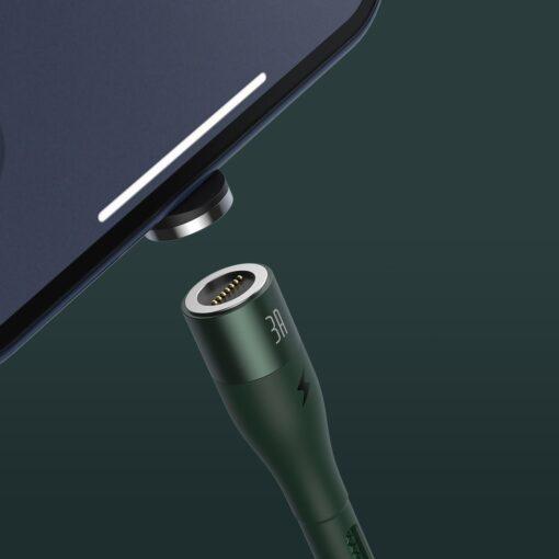 Magnetiga laadija juhe Baseus Zinc USB Lightning 1 m 2.4A roheline CALXC K06 6