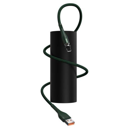Magnetiga laadija juhe Baseus Zinc USB Lightning 1 m 2.4A roheline CALXC K06 7
