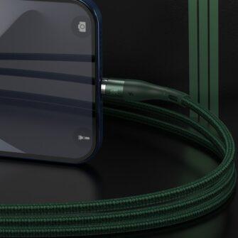 Magnetiga laadija juhe Baseus Zinc USB Lightning 1 m 2.4A roheline CALXC K06 8