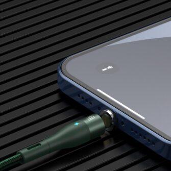 Magnetiga laadija juhe Baseus Zinc USB Lightning 1 m 2.4A roheline CALXC K06 9