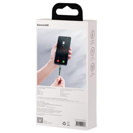 Magnetiga laadija juhe Baseus Zinc USB USB Type C Q.C AFC 1 m 3A roheline CATXC M06 5