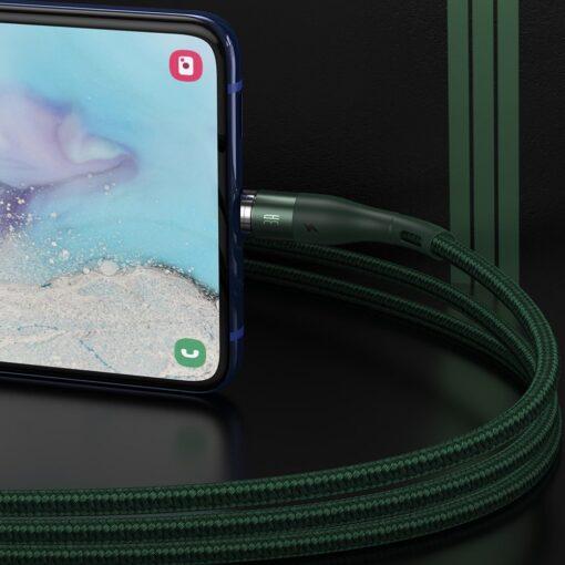 Magnetiga laadija juhe Baseus Zinc USB USB Type C Q.C AFC 1 m 3A roheline CATXC M06 9