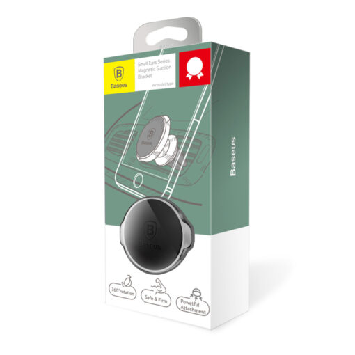 Magnetiga telefonihoidik autosse nahast kattega Baseus Small Ears must SUER A01 14