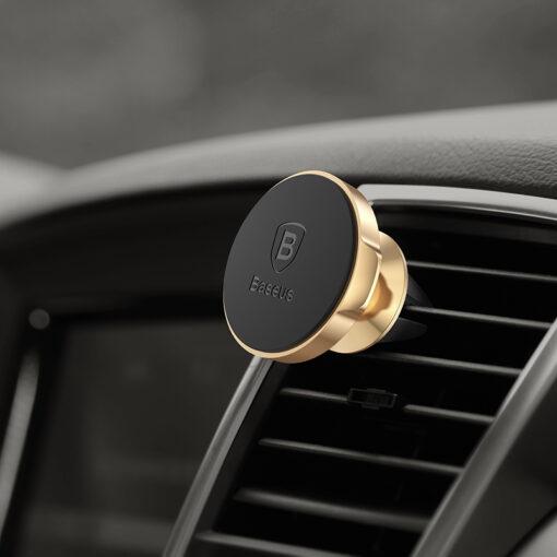 Magnetiga telefonihoidik autosse nahast kattega Baseus Small Ears must SUER A01 6