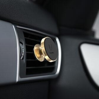 Magnetiga telefonihoidik autosse nahast kattega Baseus Small Ears must SUER A01 8