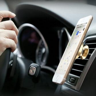 Magnetiga telefonihoidik autosse nahast kattega Baseus Small Ears must SUER A01 9