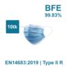 Näomaskid Sertifitseeritud Eesti tootjalt EN14683 2019 Type II R BFE – 9983 10tk
