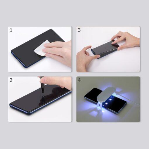 Samsung S20 Ultra kaitseklaas 3D UV lambi ja liimiga 2tk pakis SGSAS20U UV02 16