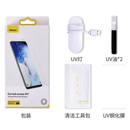 Samsung S20 Ultra kaitseklaas 3D UV lambi ja liimiga 2tk pakis SGSAS20U UV02 20