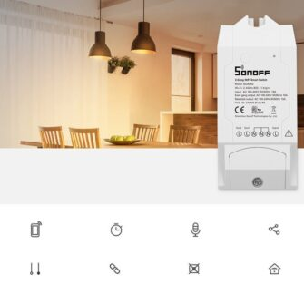 Sonoff DUAL R2 kahe kanaliga WiFi nutilüliti valge IM160811001 3