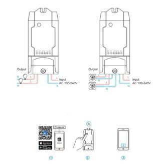 Sonoff DUAL R2 kahe kanaliga WiFi nutilüliti valge IM160811001 9