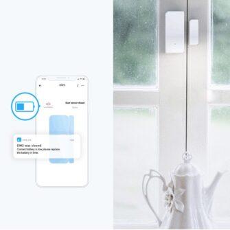 Sonoff DW2 RF juhtmevaba ukse või akna andur sensor 433 MHz RF valge M0802070003 12