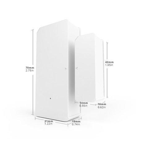 Sonoff DW2 RF juhtmevaba ukse või akna andur sensor 433 MHz RF valge M0802070003 15